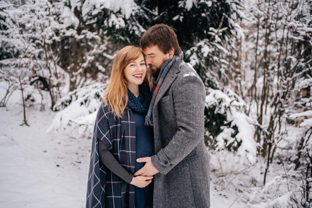 Těhotenské fotografie, zimní focení, rodinné focení, fotograf